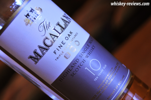 The Macallan Fine Oak 10 Year Old Scotch Label