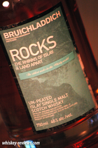 Bruichladdich Rocks Scotch Detail
