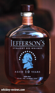 Jefferson's 10 Year Old Rye