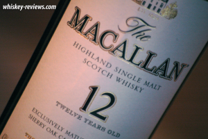 Macallan 12 Year Old Scotch Detail