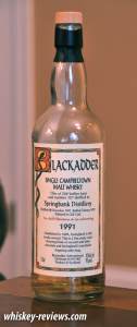 Blackadder 1991 Springbank Distillery Scotch