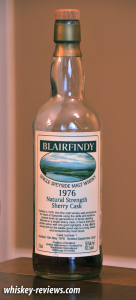 Blairfindy 1976 Natural Strength Sherry Cask Scotch