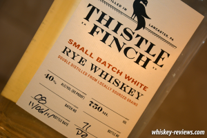 Thistle Finch White Rye Whiskey Detail
