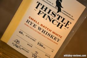 Thistle Finch White Rye Whiskey Detail