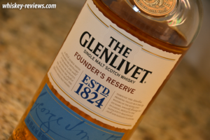 Glenlivet Founder's Reserve Scotch Detail